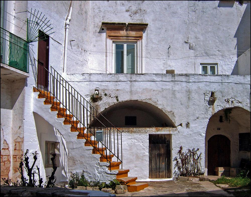 Innenhof in Martina Franca, Apulien
