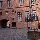 Innenhof Schloß Gripsholm mit Brunnen