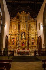 Innenraum der Kirche Iglesia de Nuestra Señora de la Peña de Francia in Puerto della Cruz