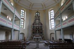 Innenraum und Altar Loschwitzer Kirche Dresden