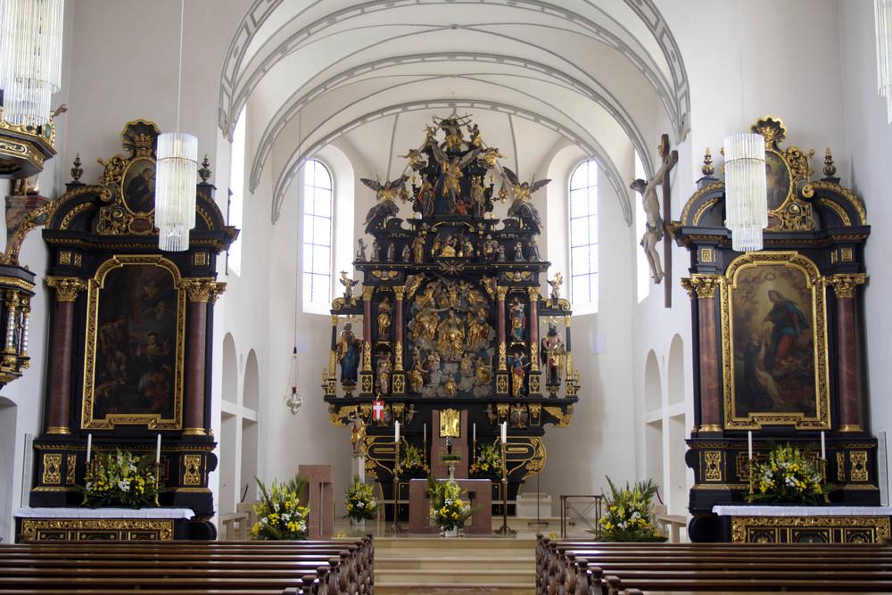 Innenraum von St. Martin/Illertissen
