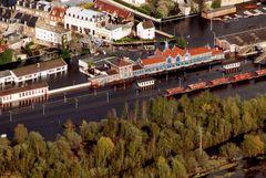 innondations d' abbevile , gare, en 1999
