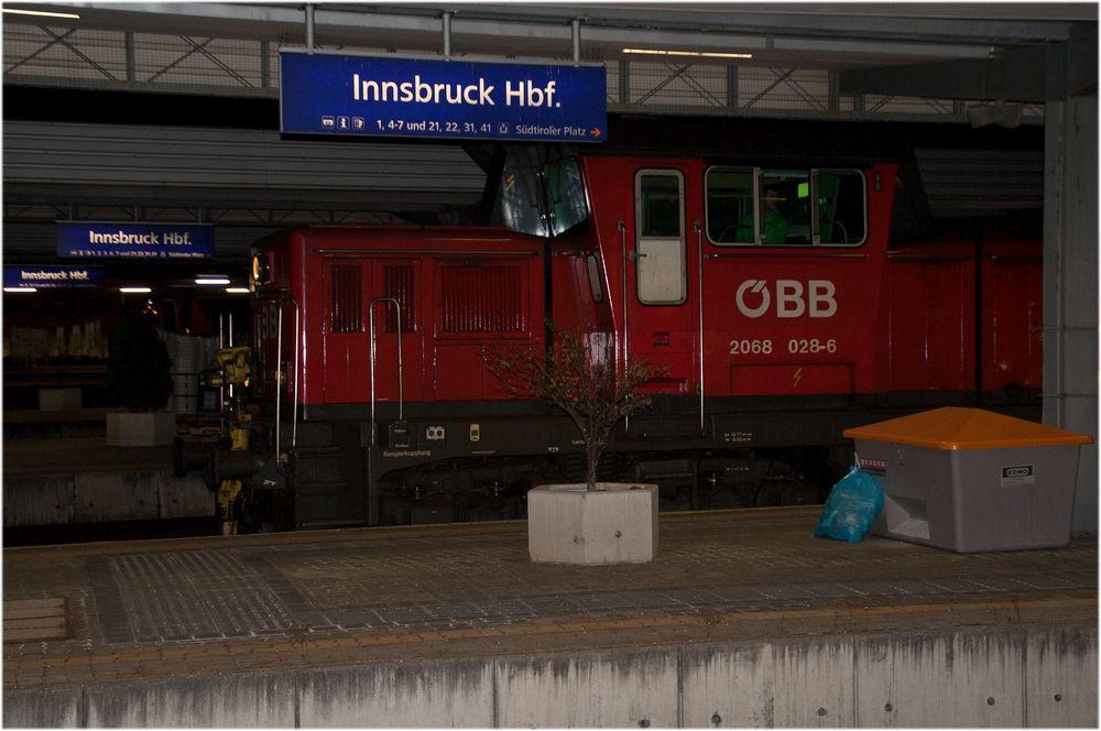 Innsbruck Hbf, hier Innsbruck Hbf...