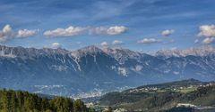 Innsbruck mit Blick auf die Nordketten