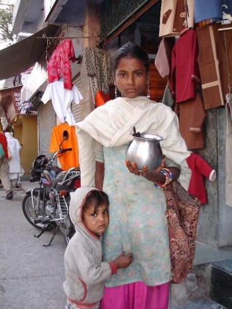 Inocencia y humiladad en India...