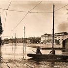 Inondazione del Tevere presso via Marmorata