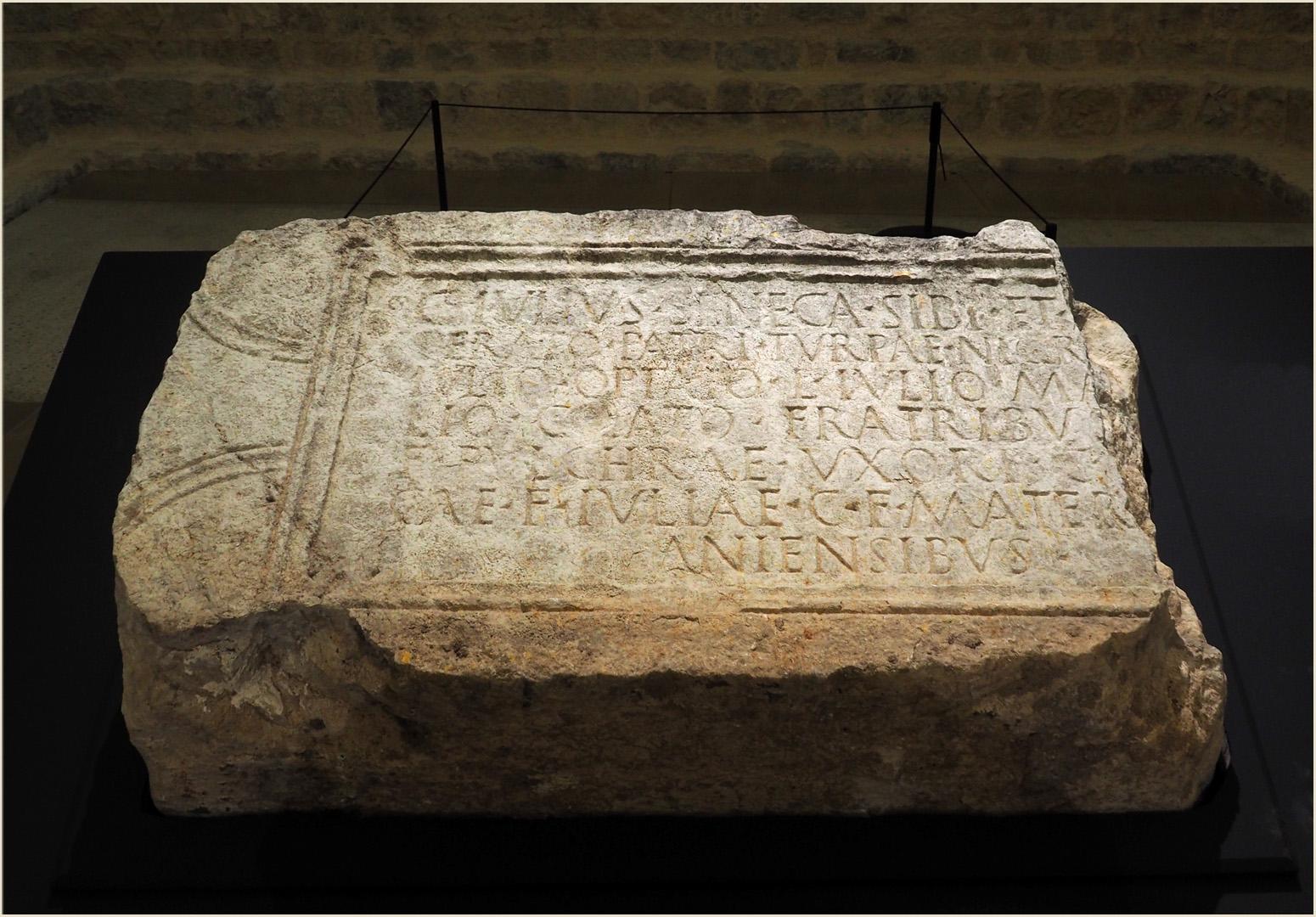 Inscription funéraire romaine…
