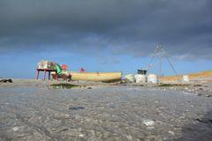 Insel Hiddensee stürmisch gut