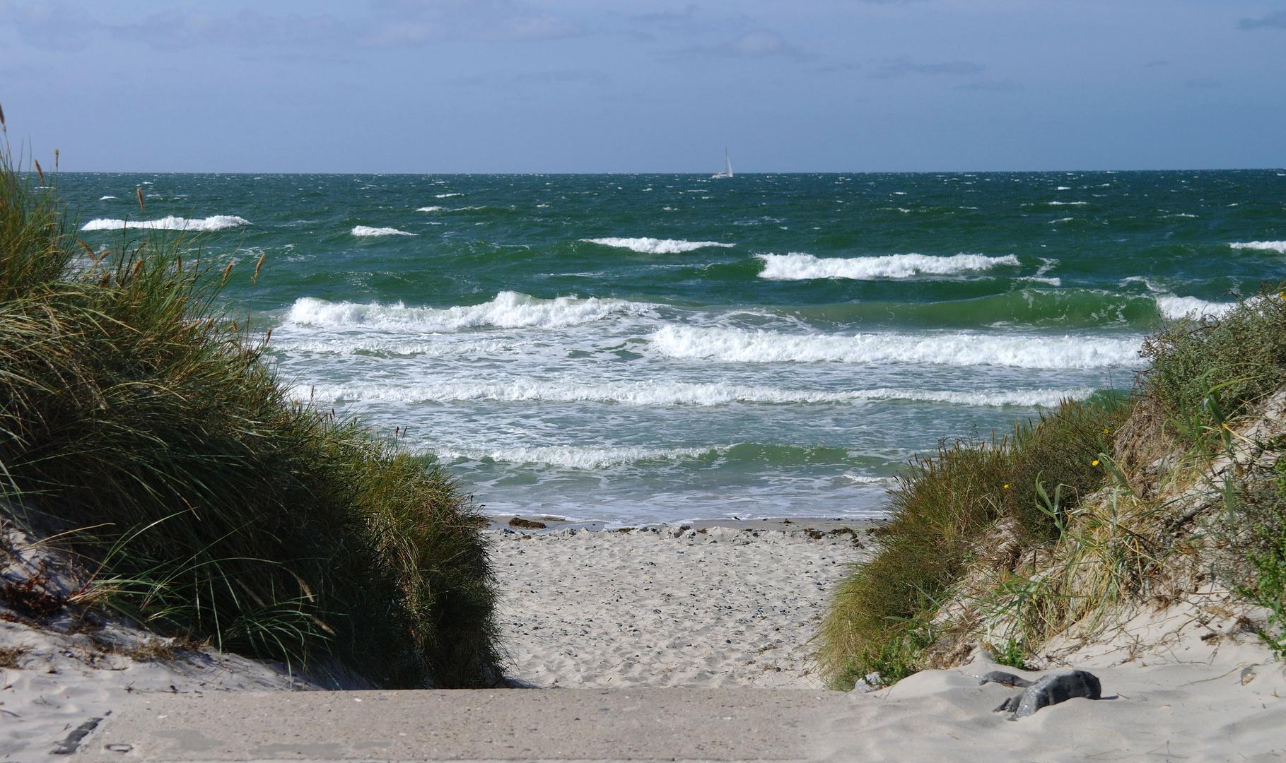 Insel Hiddensee, Zugang zum Meer
