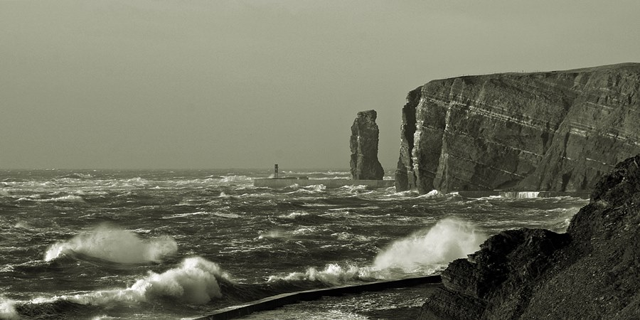 Insel im Sturm