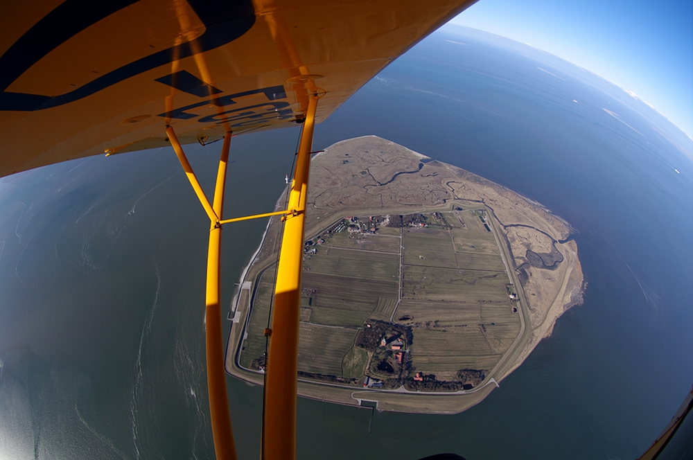 Insel Neuwerk aus der Luft