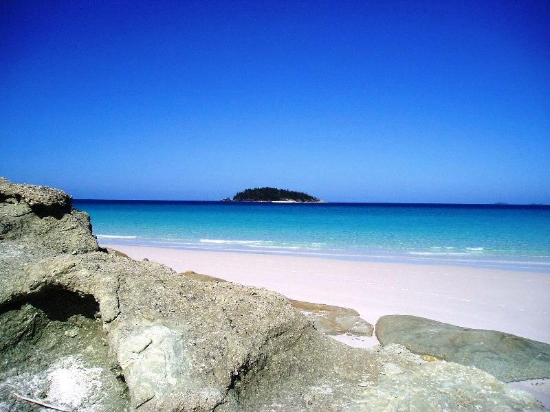 Insel vor White Heaven Beach Australia