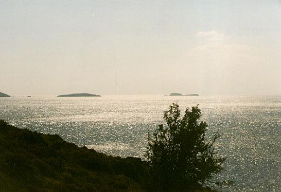 Inseln im Dunst bei Skyathos
