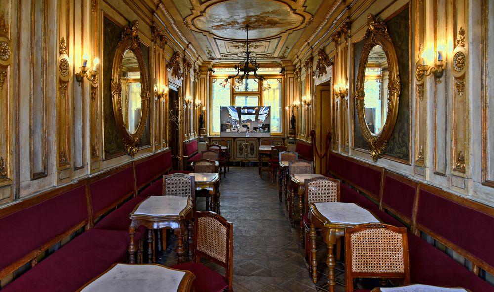 Inside Caffè Florian  - Venice's grandest coffee house -
