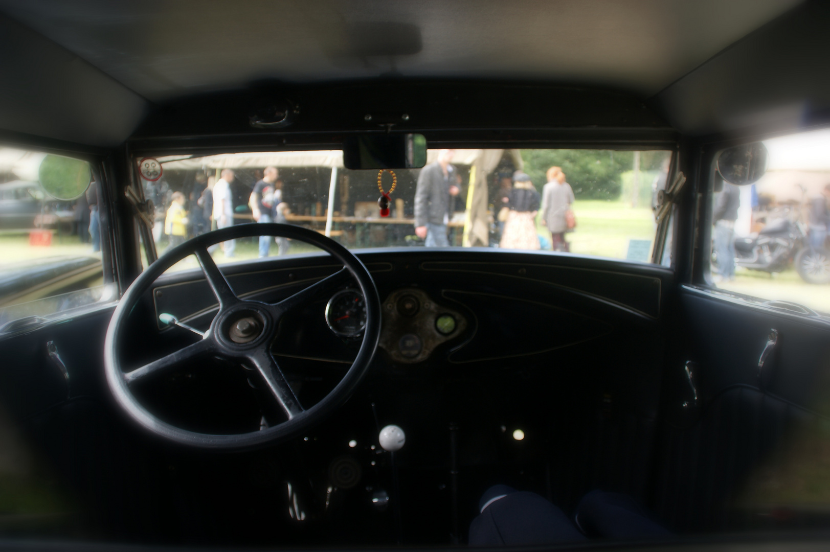 ...inside my little Ford 2-door coupe....