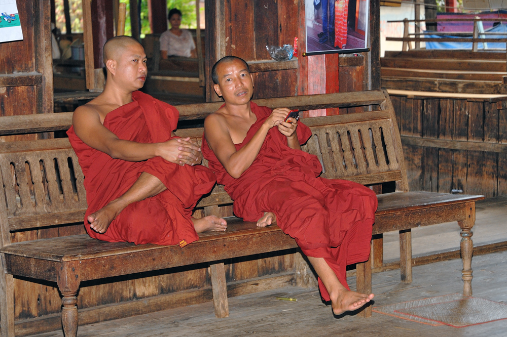 Inside Nge Hpe Chaung, the jumping cats monastery