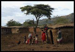 ... inside of a Massai Village ...