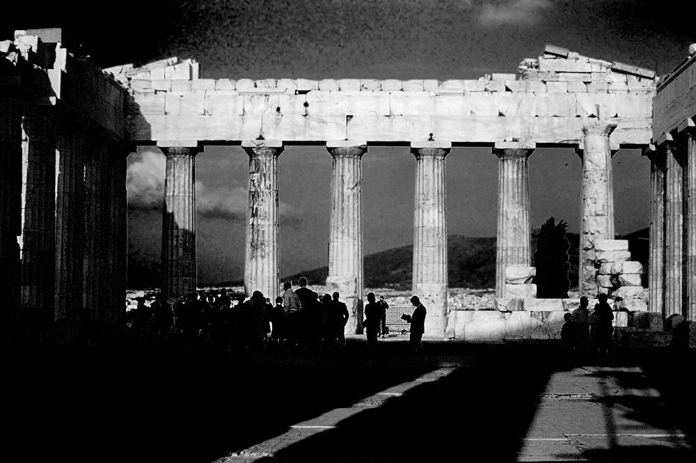 *INSIDE THE PARTHENON - ATHENS, GREECE - A.D. 1969*