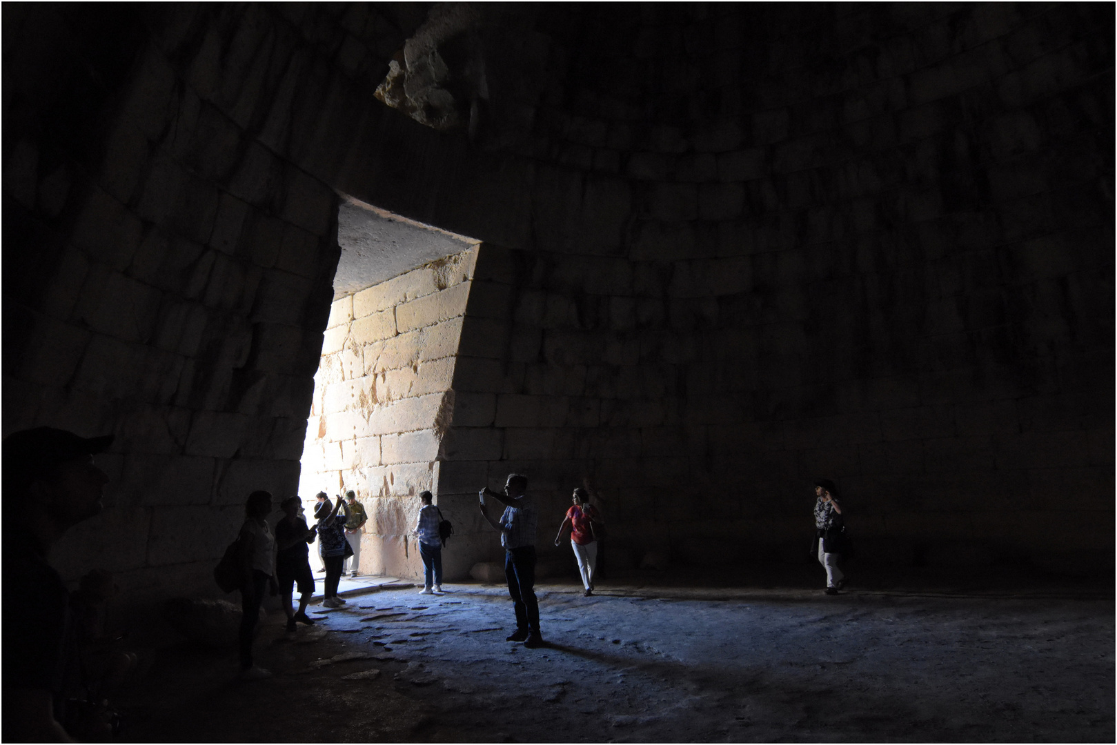 Inside the Tomb of Agamemnon...