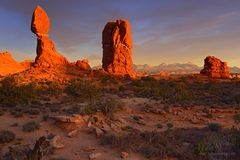 Intensiv glühender Balanced Rock