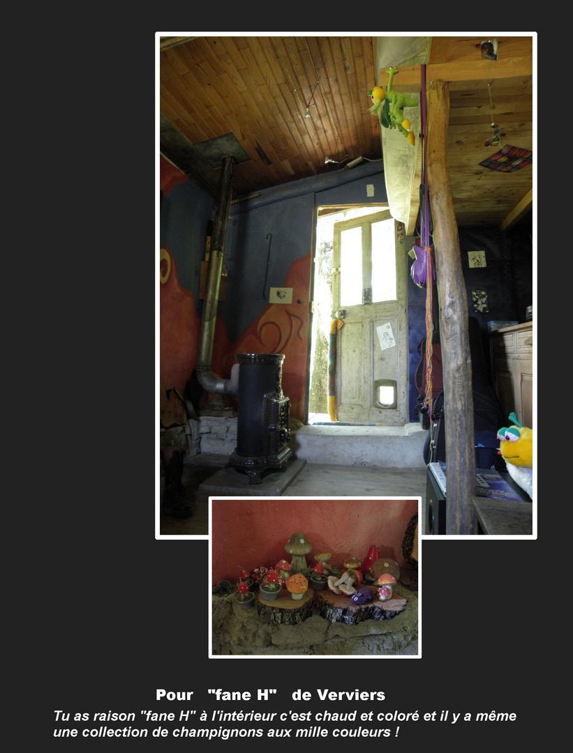 Intérieur de la cabane des Amoureux ....