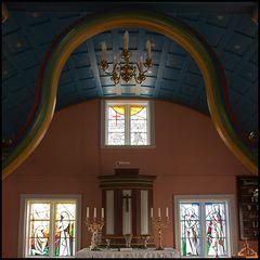 Intérieur der Kirche von Reynistadur