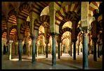 Interior de la Mezquita de Cordoba.