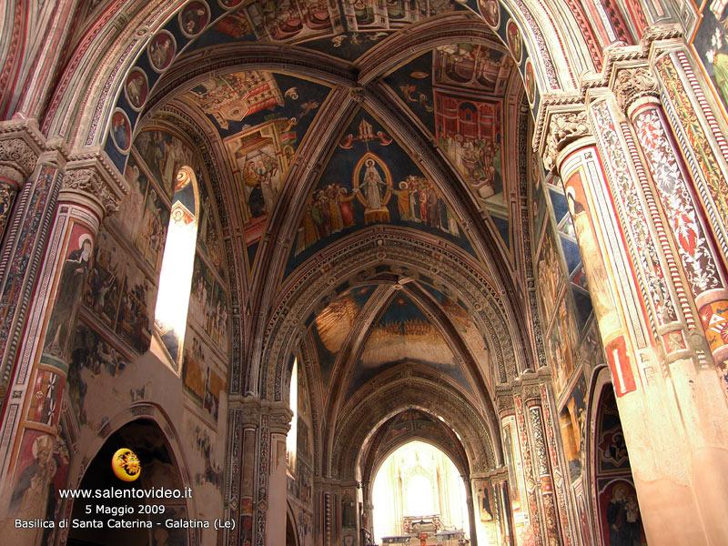 Interno della Basilica di Santa Caterina a Galatina (Le)
