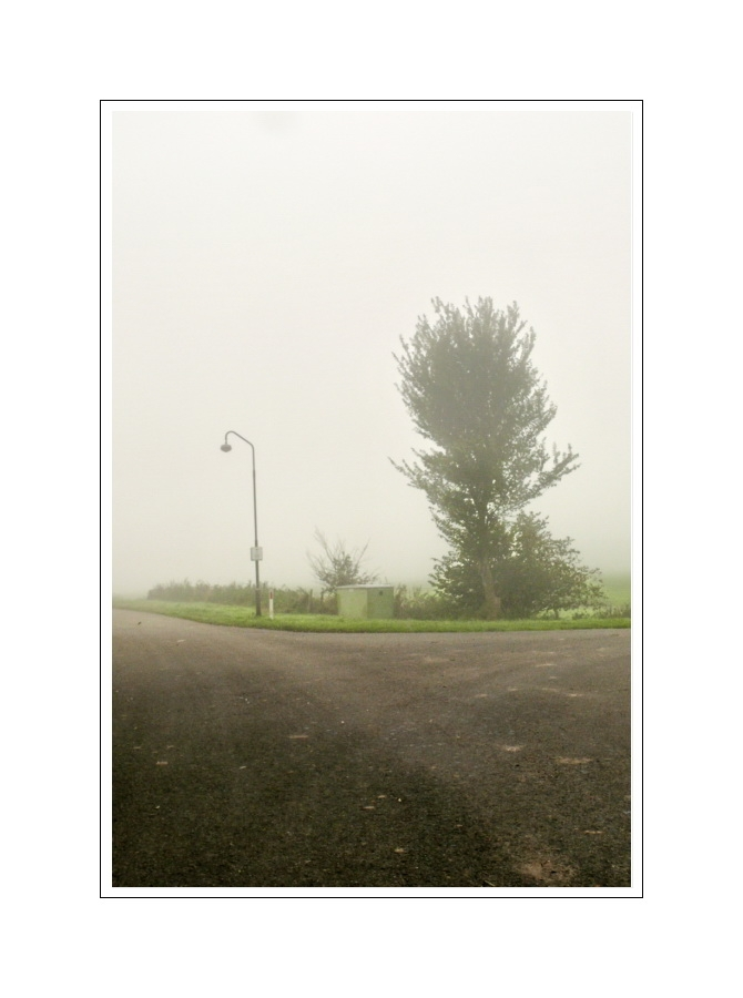 Intersection Oranjedijke in fog (07.10.07)