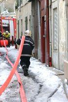 intervention des pompiers dans la neige