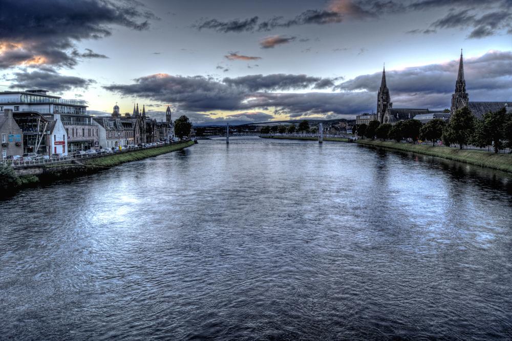 Inverness am Fluss Ness,Schottland-Highlands