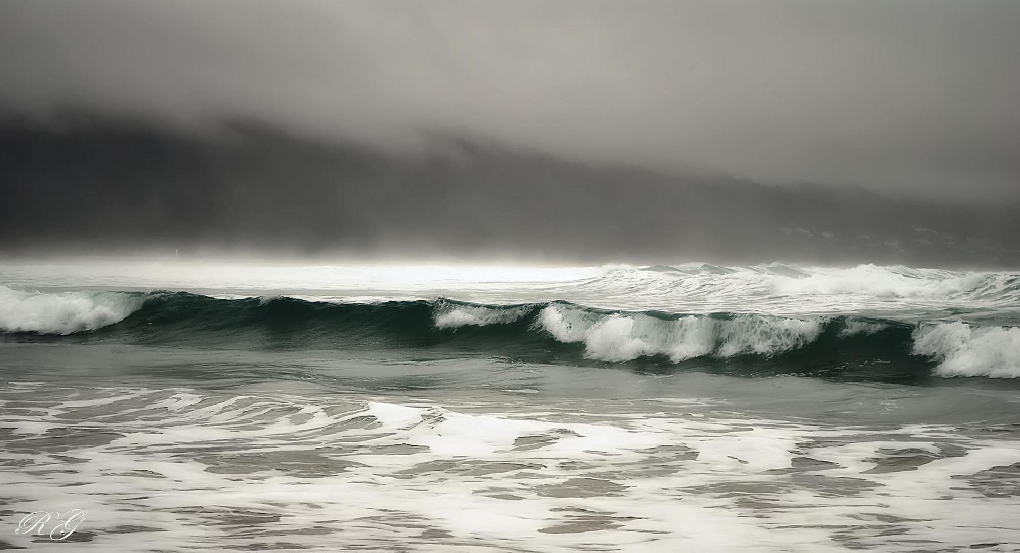 invierno en el mar