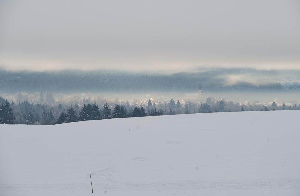 Inzell im Winter-Nebel