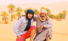 io (a sx) e Abdhul - deserto del sahara - libia 2006