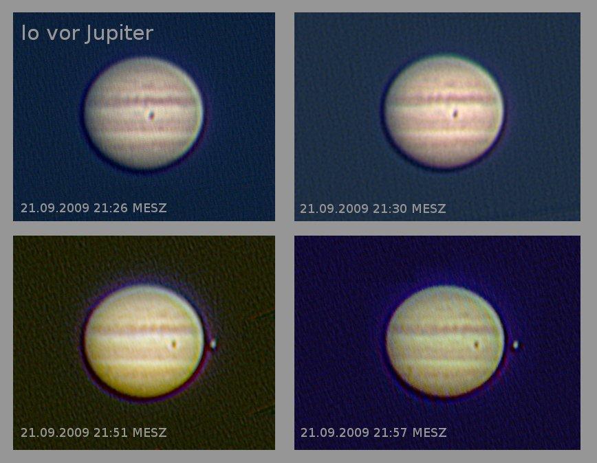 Io vor Jupiter am 21.09.2009