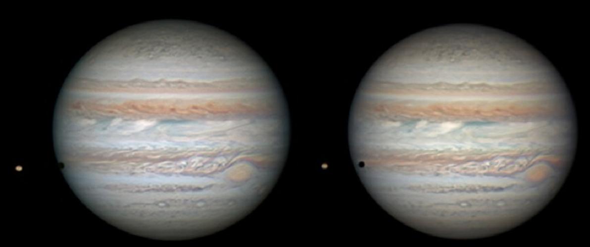 Io´s Schatten auf Jupiter
