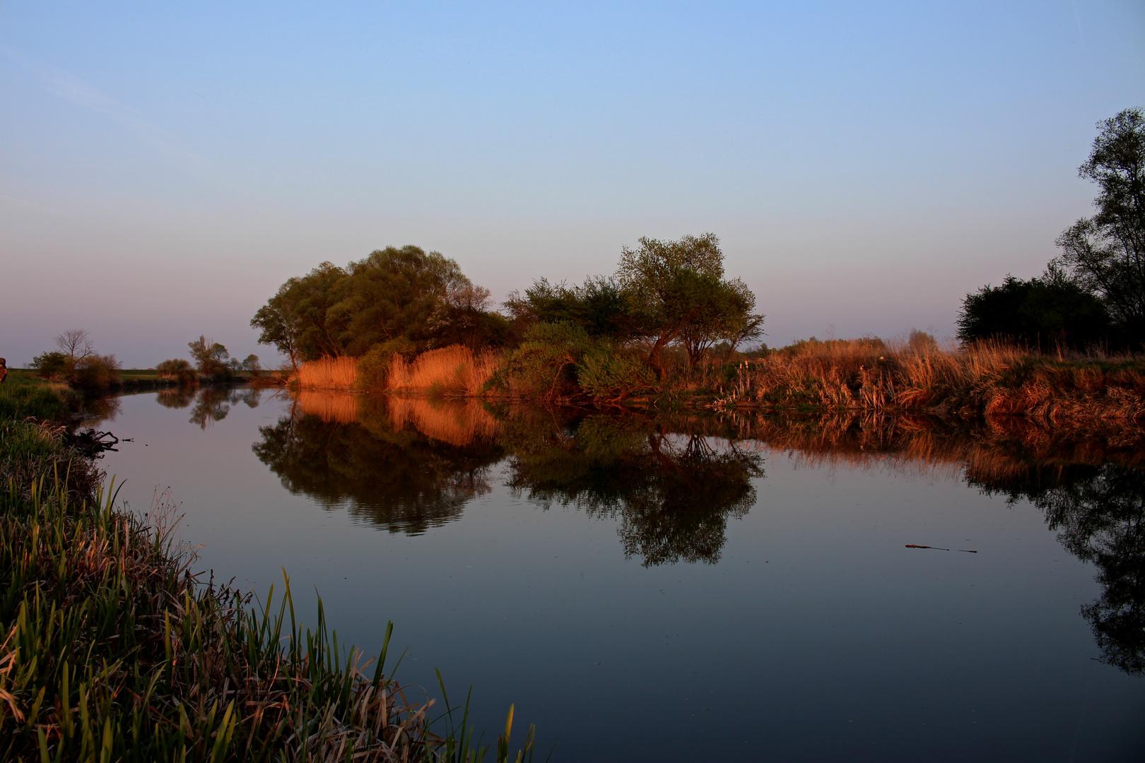 Ipoly - Sonnenuntergang im Frühling