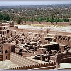 Iran - Bam - Blick vom Festungsturm auf Teile der Stadt und die Oase