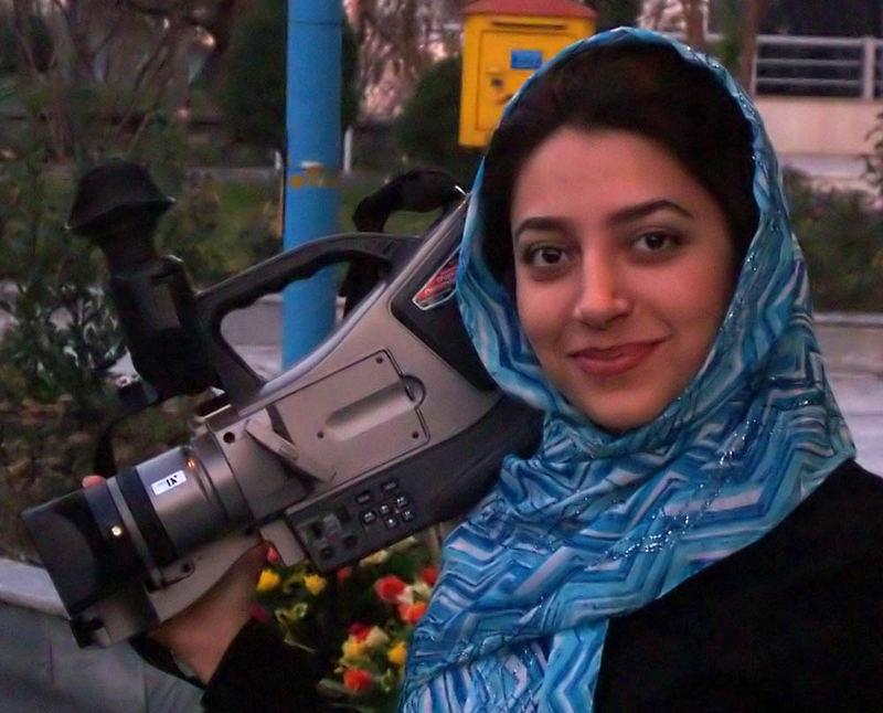 Iranische Kamerafrau