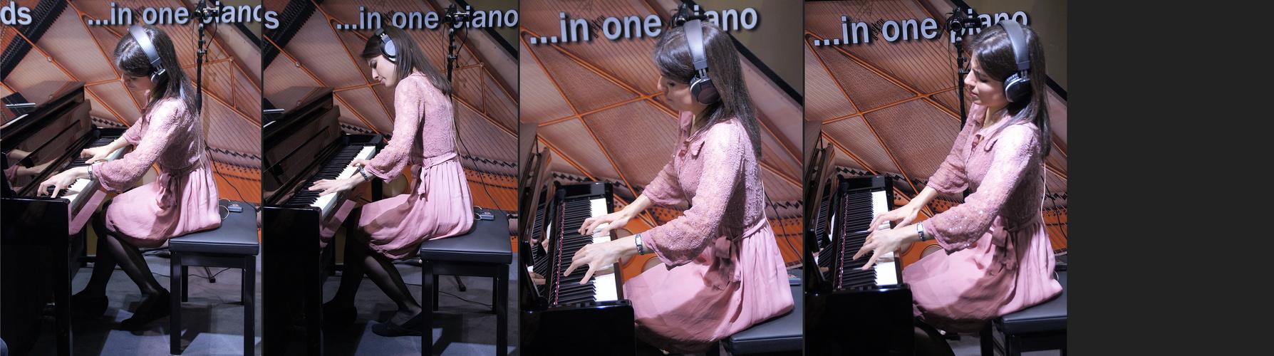 Irene Hierrezuelo Osorio am Yamaha Clavinova CLP-585
