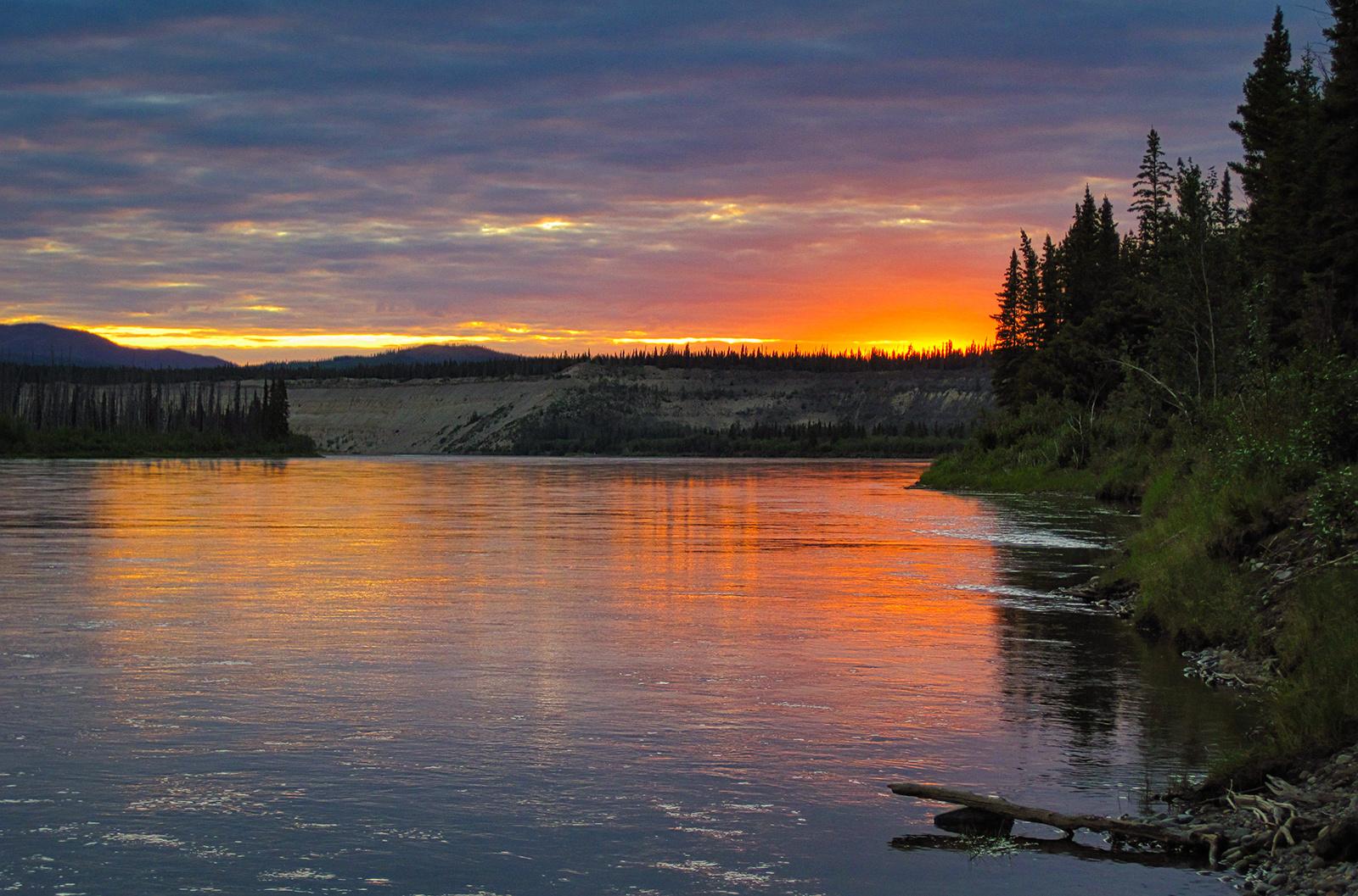 Irgendwo im Yukon auf der Kanutour auf dem Teslin und Yukonriver!