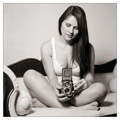 Isabella and my Rolleiflex