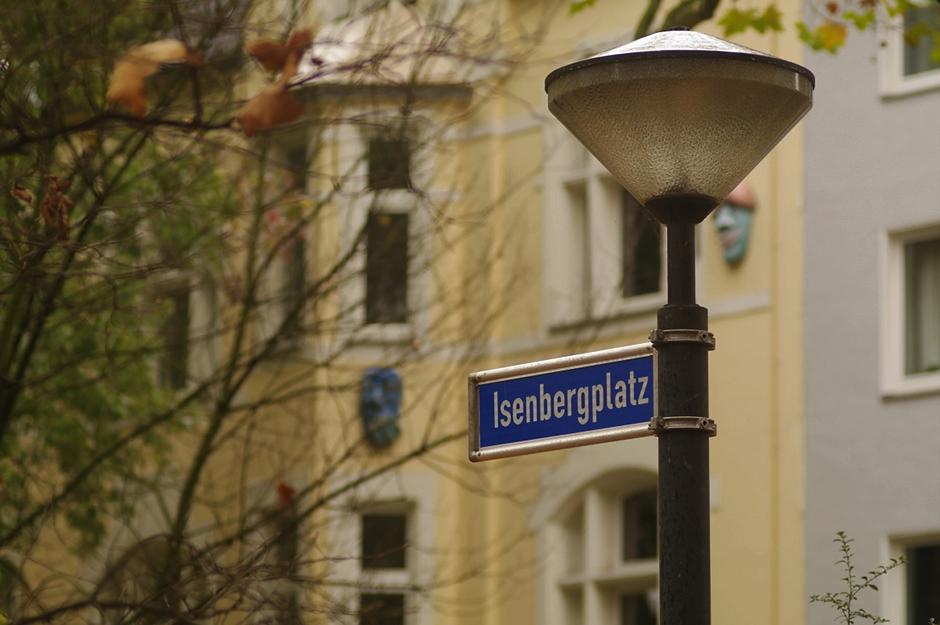 Isenbergplatz - das Schild