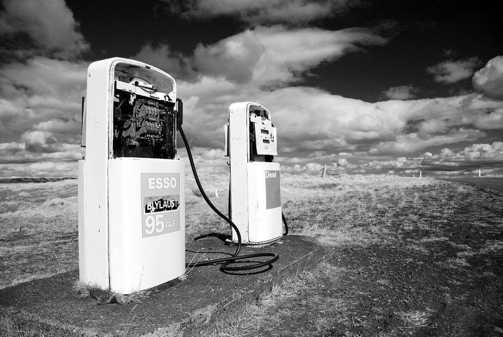 Isländische Tankstelle - out of order