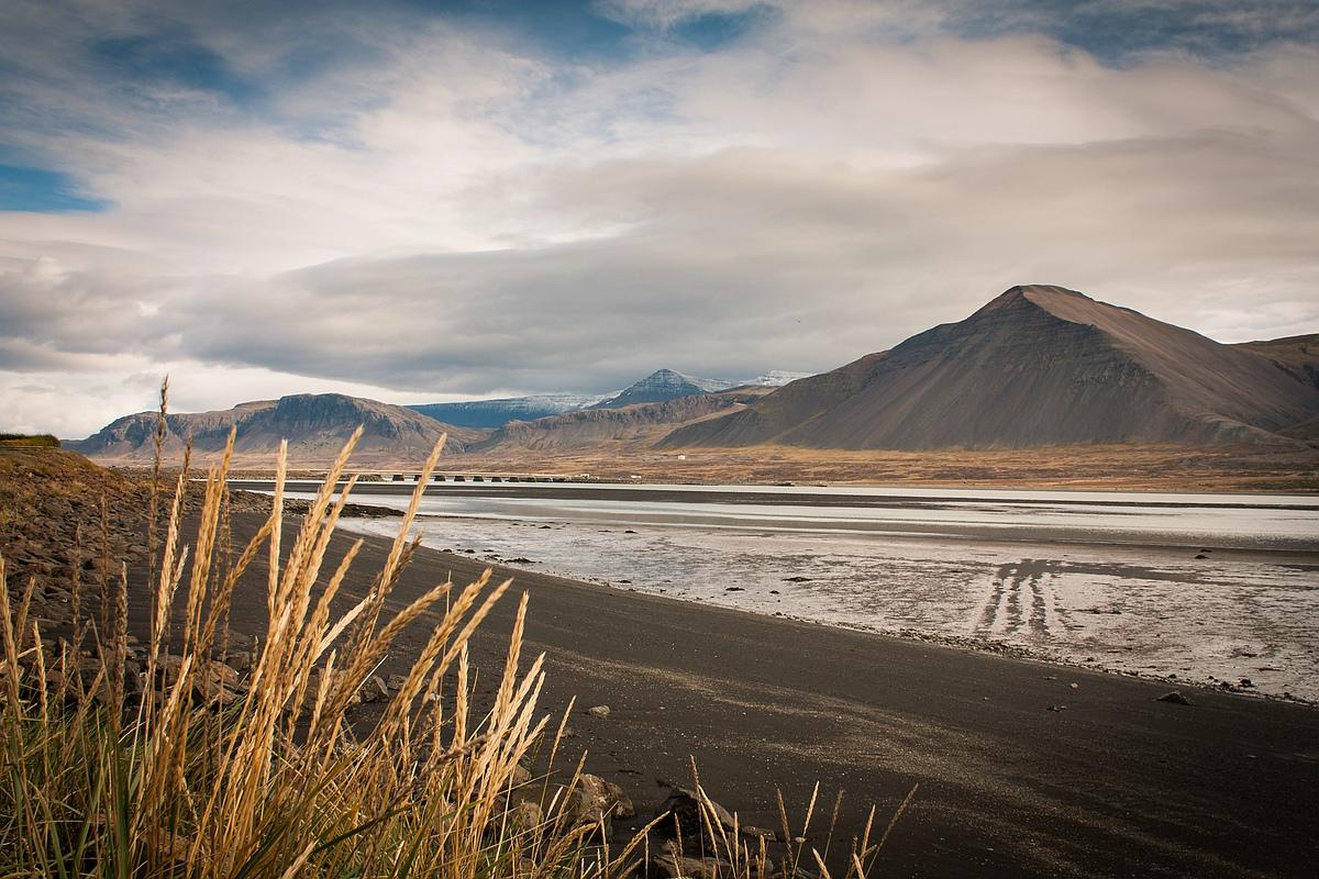 Island - am Strand von Borgarnes