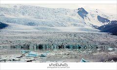 Island, Gletscherkante am Fjallsarlon
