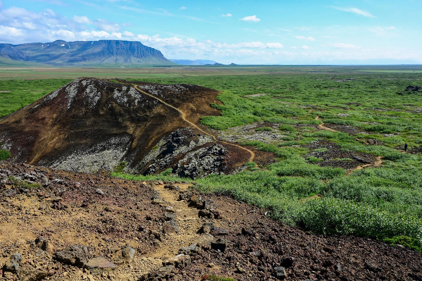 Islands leicht erwanderbare Krater