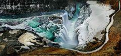 """Islands Wasserfall """"Gullfoss"""""""