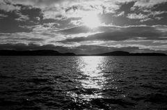 Islay in schwarz-weiß.