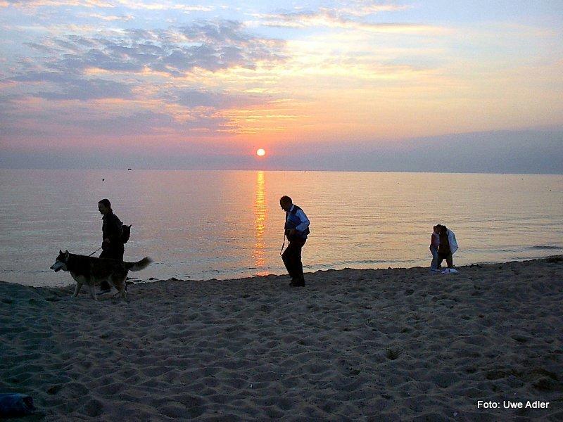 Ist der Strand abends fast leer, ist es für mich am Schönsten am Meer